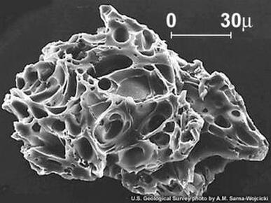 Picture of a volcanic ash