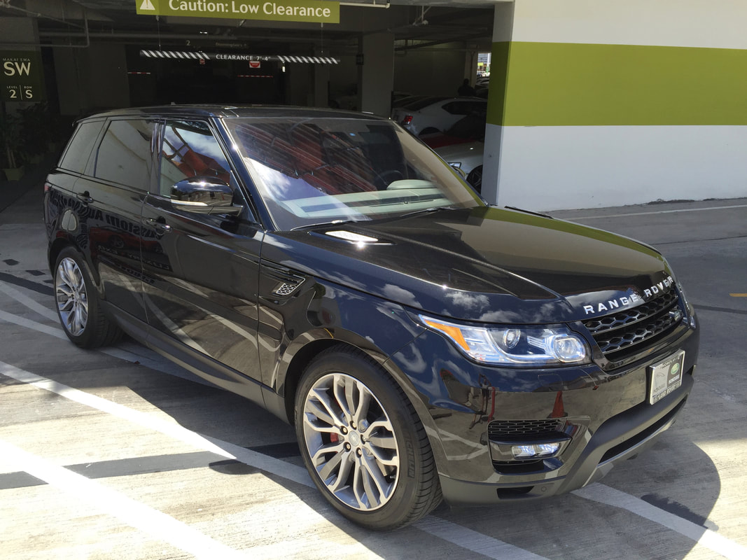 Range Rover detailed with Modesta Glass Coating