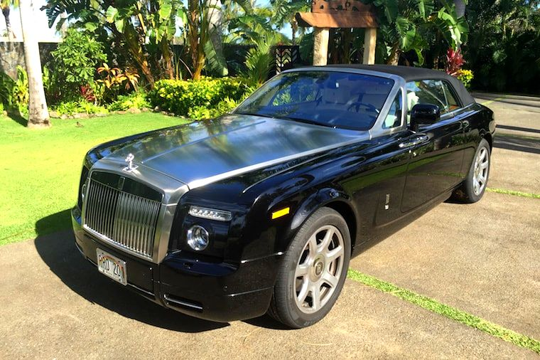 Rolls Royce after Complete Detail package in a oceanfront house in Kailua